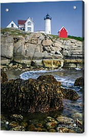 Nubble Lighthouse At Low Tide Acrylic Print