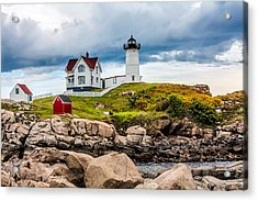 Nubble Lighthouse Acrylic Print by Fred Larson