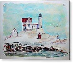 Nubble Lighthouse Acrylic Print