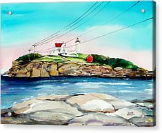 Nubble Lighthouse Maine Acrylic Print