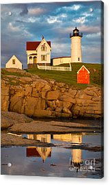 Acrylic Print featuring the photograph Nubble Lighthouse No 1 by Jerry Fornarotto