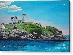 Nubble Lighthouse Sunrise Acrylic Print