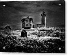 Nubble Night Acrylic Print by Tricia Marchlik