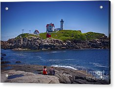Nubble Summer Acrylic Print by Rick Bragan
