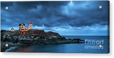 Nubble Lighthouse Before The Storm Acrylic Print