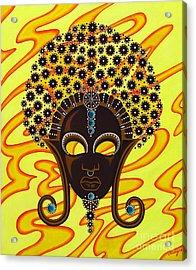 Nubian Modern Afro Mask Acrylic Print