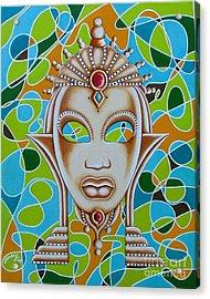 Nubian Modern Ivory Mask  Acrylic Print
