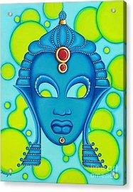 Nubian Modern Mask Blue Acrylic Print
