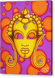 Nubian Modern Mask Gold Acrylic Print