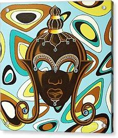 Nubian Modern  Mask Acrylic Print
