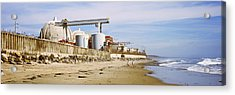 Nuclear Power Plant On The Beach, San Acrylic Print by Panoramic Images