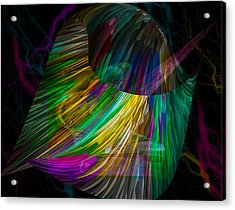Nucleus Acrylic Print by Camille Lopez