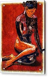 Nude - Woman Sitting Acrylic Print