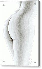 Nude Buttock Acrylic Print by Saki Art
