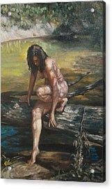 Nude By The Kickapoo Acrylic Print