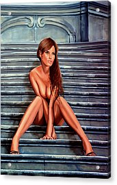 Nude City Beauty Acrylic Print