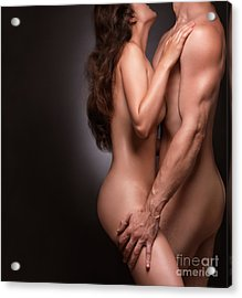 Nude Couple Naked Bodies Acrylic Print by Oleksiy Maksymenko