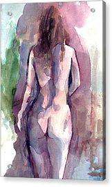Acrylic Print featuring the painting Nude by Faruk Koksal