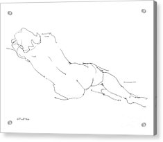 Nude Female Drawings 9 Acrylic Print by Gordon Punt