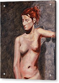 Nude French Woman Acrylic Print by Shelley Irish