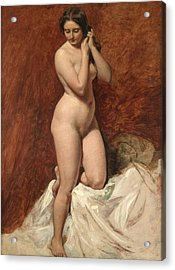 Nude From The Front Acrylic Print by William Etty