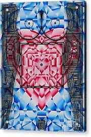 Nude Heart And Sky Acrylic Print by Joseph J Stevens