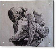 Nude II. Acrylic Print by Paula Steffensen