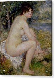 Nude In A Landscape Acrylic Print by Pierre Auguste Renoir