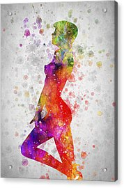 Nude In Color 04 Acrylic Print by Aged Pixel