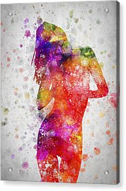 Nude In Color 05 Acrylic Print by Aged Pixel