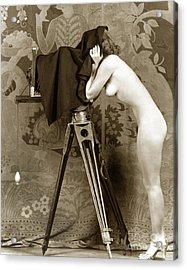 Nude In High Heel Shoes With Studio Camera Circa 1920 Acrylic Print