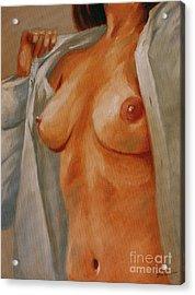 Nude In Shirt I Acrylic Print