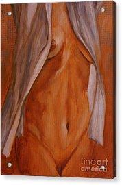 Nude In Shirt IIi Acrylic Print by John Silver
