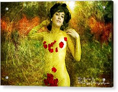 Nude In The Forest Acrylic Print by Rick Buggy