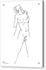 Nude-male-drawing-11 Acrylic Print