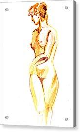 Nude Model Gesture II Acrylic Print by Irina Sztukowski