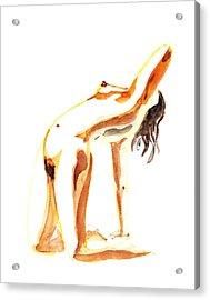Nude Model Gesture IIi Acrylic Print by Irina Sztukowski