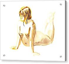 Nude Model Gesture Iv Acrylic Print by Irina Sztukowski
