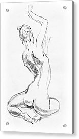 Nude Model Gesture V Acrylic Print