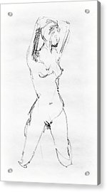 Nude Model Gesture Vii Acrylic Print by Irina Sztukowski