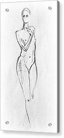 Nude Model Gesture Viii Acrylic Print