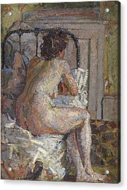 Nude On A Bed, C.1914 Acrylic Print by Harold Gilman