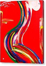 Nude Profile - Edition 4 Acrylic Print by Mac Worthington
