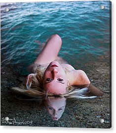 Nude Reflection Acrylic Print by Rick Buggy