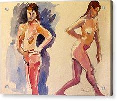 Nude Study Acrylic Print