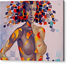 Nude Women On The Wall Acrylic Print by Will Burlingham