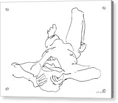 Nude_male_drawings-22 Acrylic Print by Gordon Punt