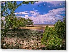 Nudgee Beach Queensland  Australia Acrylic Print by Donah Beckhouse