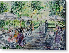 Acrylic Print featuring the painting Nuernberg Gardens Of Hesperides by Alfred Motzer