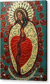 Nuestra Senora De Guadalupe Acrylic Print by Maya Telford